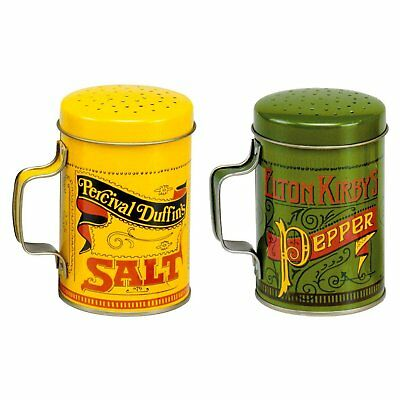 Norpro Nostalgic SALT & PEPPER Shakers Tin Plated Steel 10 Ounces Set of 2