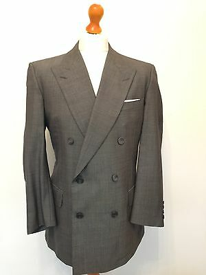 Turnbull & Asser Birdseye Double Breasted Business Suit Size 42
