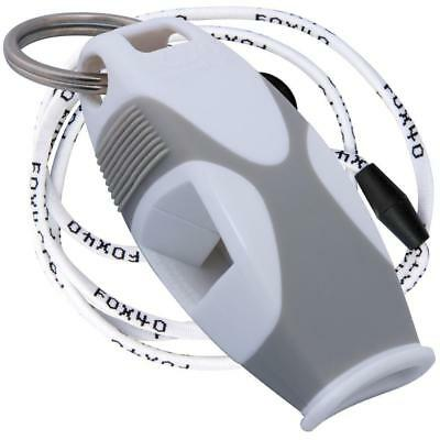 Fox 40 Sharx Whistle With Lanyard Referee Coach Survival Outdoor Dog White