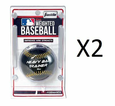 Franklin 10oz. Weighted Baseball Weight & Size Baseball Trainer 1052 (2-Pack)