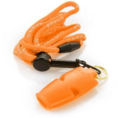 Fox 40 Micro Whistle Lanyard For Referee Safety Alert Rescue Dog Outdoor Orange