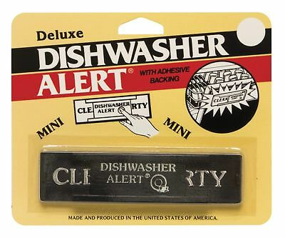 Harold Deluxe Dishwasher Alert, Clean Dirty Indicator Sign With Adhesive Backing