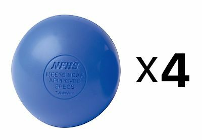 Champion Lacrosse Ball Official NFHS NCAA Massage Therapy-BLUE (4-Pack)