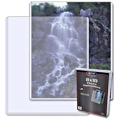 7 New BCW Topload 8X10 Photo Toploaders 8 X10 Top Load Holders FREE SHIPPING