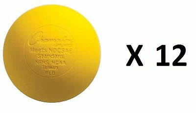 Champion Lacrosse Ball Official NFHS NCAA Massage Therapy-YELLOW (12-Pack)