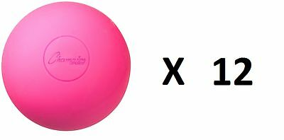 Champion Lacrosse Ball Official NFHS NCAA Massage Therapy-PINK (12-pack)