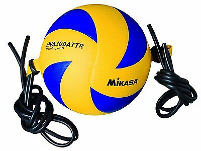 Mikasa Sports Dimpled Micro-fiber Cover Attack Trainer Volleyball With Tethers