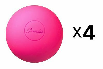 Champion Lacrosse Ball Official NFHS NCAA Massage Therapy-PINK (4-Pack)