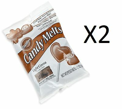 Wilton Light Cocoa Candy Melts 12oz Microwaveable Mold/Dip/Drizzle (2-Pack)