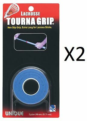 Unique Lacrosse Stick Shaft Tourna Tac Dry Feel Tape 2 Grips Durable (2-Pack)