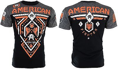 AMERICAN FIGHTER Mens T-Shirt FAIRBANKS Athletic BLACK Biker Gym MMA UFC $40 h