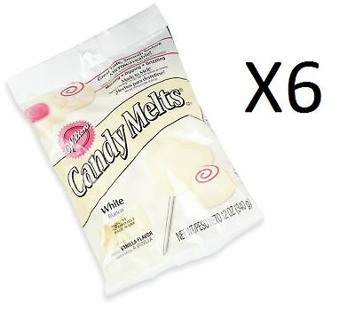 Wilton White Candy Melts Chocolate Fondue Fountain Cake Pops 14 Oz. Bag (6-Pack)