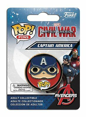 Funko Pop Marvel Avengers Captain America 3 Civil War - Captain America Pin 8511
