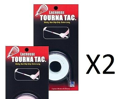 Unique Lacrosse Stick-Shaft Tourna Tac Sticky Overgrip-Grip Tape-White (2-Pack)