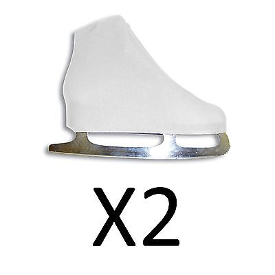 A&R Figure Skate Cover Youth Ice Skate Boot Cover Size 6-13 White 5 JSCW (2Pack)