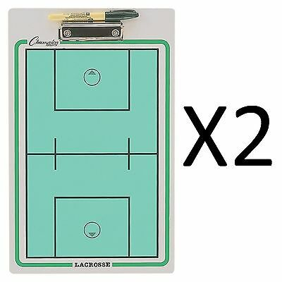 Champion Dry Erase 2 Sided Lacrosse Coaching Board With Marker CBLX (2-Pack)