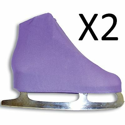 A&R Universal Figure Skate Cover Lycra Stretch Ice Skate Lilac 5 SCLC (2-Pack)