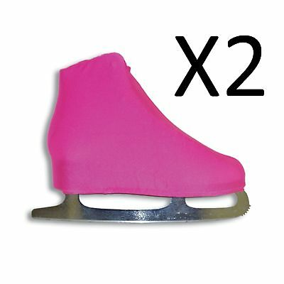 A&R Universal Figure Skate Cover Lycra Stretch Skate Boot Neon Pink 9 (2-Pack)