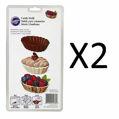 Wilton Popular Dessert Shell 2pc Chocolate Candy Bowl Mold 2115-1035 (2-Pack)
