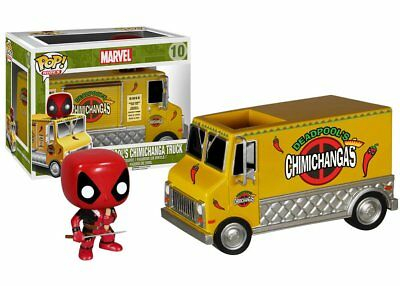 Funko Pop Rides Marvel Chimichanga Truck w/ Deadpool Vinyl Action Figure Toys 10