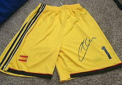 Iker Casillas Signed Team Spain Soccer Shorts with proof