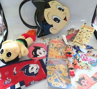Vtg Lot New Rare Astro Boy Japanese Anime Purse,plush,keychains,paper Stickers