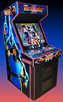 Mini Mortal Kombat II Arcade Cabinet Collectible Display