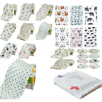 Newborn Baby Muslin Blanket Soft Cotton Swaddle Blanket Wrap Nursing Cover Towel