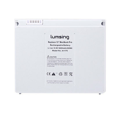 """Lumsing 9Cell 60WH Battery for Apple MacBook Pro 15"""" A1175 A1226 A1260 MA601 CA"""