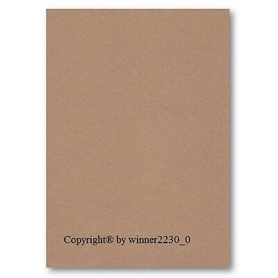 100 Sheets of A5 BROWN KRAFT 85gsm Recycled Paper DIY 148x210mm Craft Invitation