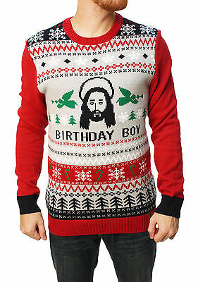 Ugly Christmas Sweater Men's Jesus Birthday Boy Sweater
