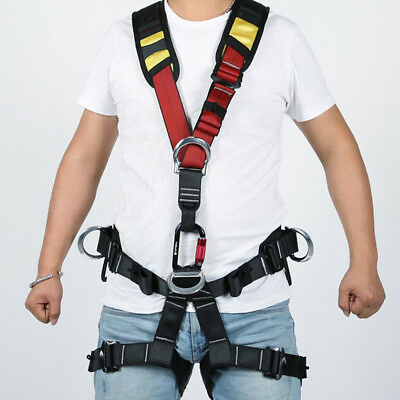 Full Body Safety Rock Climbing Arborist Rappelling Harness Sitting Seat Belt
