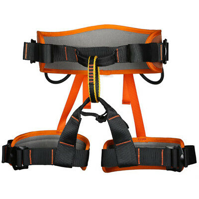 Professional Rock Tree Climbing Rappelling Safety Belt Seat Bust Harness Kit