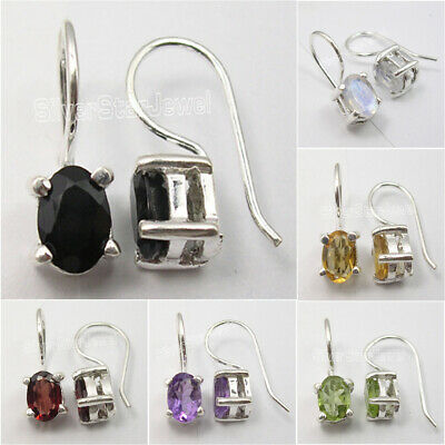 925 Solid Silver DANGLE Earrings, MOONSTONE & Other Gemstone Variation SEE MORE