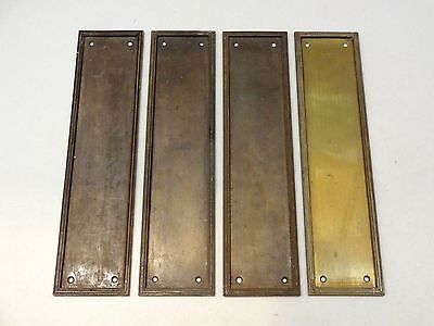 Set Of 4 Reclaimed Gibbons Of Wolverhampton Finger Door Push Plates Fingerplate