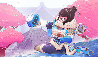 F942 Free Mat Bag Overwatch Mei Large Game Mouse Pad Desk Mat CCG Playmat