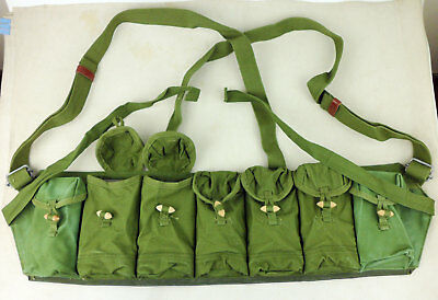 Surplus Chinese Military Type 68 Chest Rig Ammo Pouch CLIPS 7 POCKET-D1081