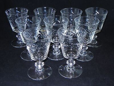 9 Morgantown Laurel Pressed Water Goblet  5 5/8""