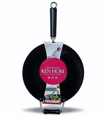 32cm Ken Hom Performance Non Stick Carbon Steel Cooking Wok