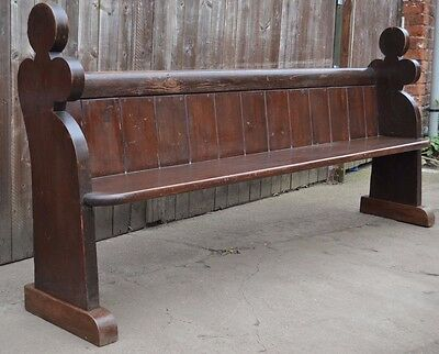 Gorgeous Antique Pitch Pine Church Pew Bench Settle 6ft 9ins Long Kitchen Hall