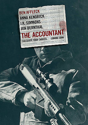 The Accountant (2016) - A1/A2 POSTER **BUY ANY 2 AND GET 1 FREE OFFER**