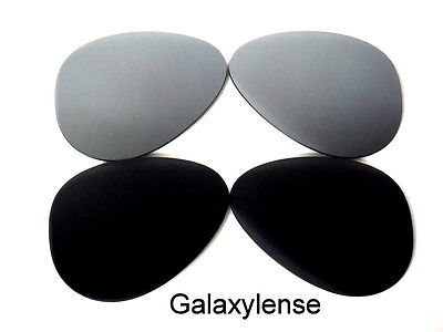 4325a41ef Galaxy Replacement Lenses For Ray Ban RB3025 Aviator Black&Silver 62mm  Polarized