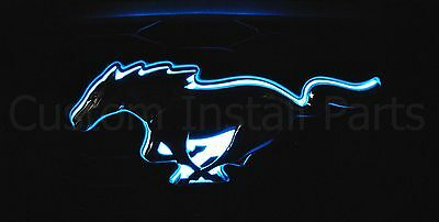 2010-2014 Ford Mustang Pony LED Light Up Blue Emblem Front Radiator Grille Grill