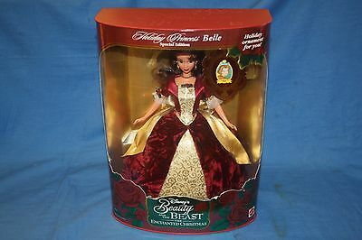 1997 Walt Disney HOLIDAY BARBIE PRINCESS BELLE Beauty & Beast (UNOPENED)