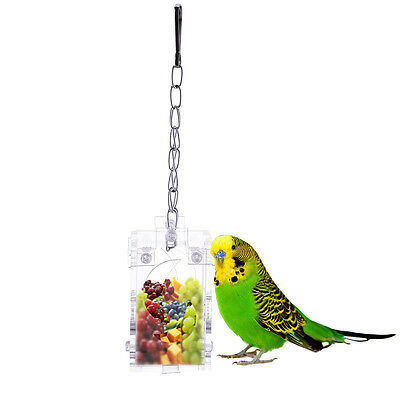 Pet Treat  Parrot Bird Cage Feeder Hanging Foraging Macaw Cockatoo Toys