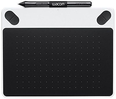 Tablette Graphique - Wacom Intuos Draw White Pen Only Small - Blanc