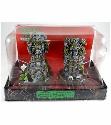 Lemax Spooky Town Jungle Ancient Statues Aztec Mayan Halloween 2 Figurines 03811
