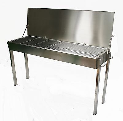 Large Stainless Steel Commercial Charcoal BBQ