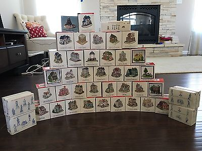 HUGE LOT of 47+ Liberty Falls Americana Houses, Pewter Villagers & Accessories