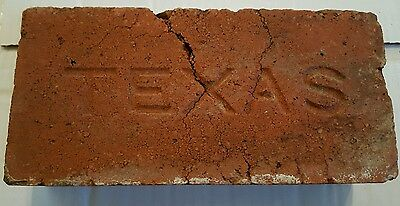 "ANTIQUE ""TEXAS""   Imprinted BRICK Hand dug from an old walkway"